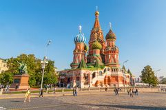 St. Basil Cathedral, Red Square, Moscow. Russia. Red Square. Saint Basil's Cathedral. The Cathedral of the Protection of Most Holy Theotokos on the MoatMoscow Stock Photos