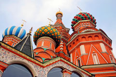 St. Basil Cathedral, Red Square, Moscow, Russia. UNESCO World Heritage Site Royalty Free Stock Photo