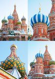 St. Basil Cathedral, Rood Vierkant, Moskou stock afbeelding