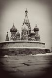 St. Basil Cathedral, Rood Vierkant, Moskou, Rusland. stock fotografie