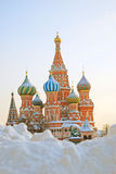 St. Basil Cathedral, Rood Vierkant, Moskou, Rusland. Unesco-Wereld hij stock fotografie
