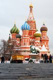 St. Basil Cathedral, Rood Vierkant, Moskou, Rusland. Unesco-Wereld hij stock afbeelding