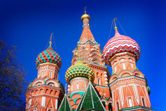 St. Basil Cathedral, Roter Platz, Moskau, Russland. Lizenzfreie Stockbilder
