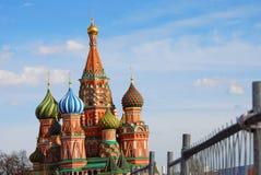 St. Basil Cathedral, Roter Platz, Moskau, Russland. Lizenzfreie Stockfotografie