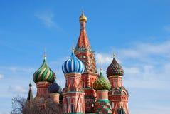 St. Basil Cathedral, Roter Platz, Moskau, Russland. UNESCO-Welt er Lizenzfreie Stockfotos