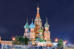 St. Basil Cathedral. St. Basil Cathedral on Red Square in Moscow, Russia stock photography