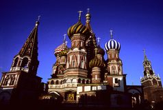 St.Basil church, Moscow. St. Basil church in central Moscow Royalty Free Stock Images