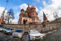 St. Basil katedra na placu czerwonym Zdjęcie Stock