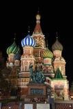 St. Basil katedra przy nocą Obrazy Royalty Free