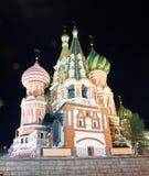 St.Basil Kathedraal bij Nacht 2 royalty-vrije stock fotografie