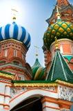 St.Basil kathedraal in Moskou Stock Fotografie