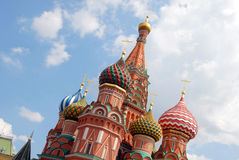 St.Basil Kathedraal in Moskou Stock Foto