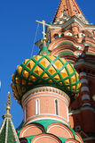 St.Basil kathedraal in Moskou Stock Afbeeldingen