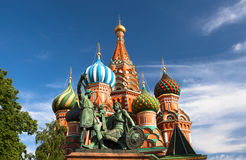 St.Basil Kathedraal op het Rode Vierkant in Moskou Royalty-vrije Stock Foto