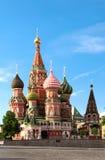 St.Basil Kathedraal op het Rode Vierkant in Moskou Stock Afbeeldingen