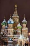 St.Basil Kathedrale auf rotem Quadrat, Moskau Stockfotos