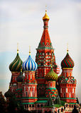 St. Basil in Moscow Stock Images