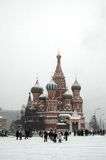 St. Basil's Cathederal. At the Red Square. Russia, Moscow. Winter, 2005 Royalty Free Stock Image