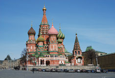 St. Basil's Cathedral. In Red Suare. Moscow. Russia Royalty Free Stock Photography