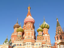 St. Basil's cathedral. In Moscow, Russia Stock Photography