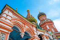 St. Basil's Cathedral Domes Royalty Free Stock Photos
