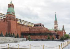 St. Basil's Cathedral, Lenin's Mausoleum, Spasskaya Tower. MOSCOW -  St. Basil's Cathedral, Lenin's Mausoleum, Spasskaya Tower on Red Square Royalty Free Stock Images