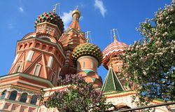 St. Basil's Cathedral in Moscow Royalty Free Stock Photography