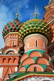 St. Basil's Cathedral, Moscow. St. Basil's Cathedral coloured domes detail, Moscow Royalty Free Stock Photo
