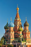St.Basil's Cathedral in Moscow. In summer Royalty Free Stock Images