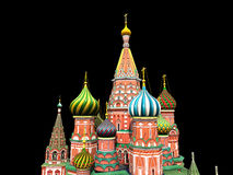 St Basil's Cathedral, Moscow, illustration, Royalty Free Stock Images