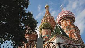St Basil`s Cathedral in Moscow stock video