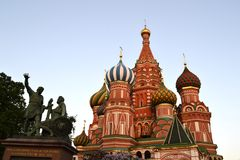 St. Basil's Cathedral. In Moscow on Red Square Stock Photos