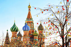 St. Basil's Cathedral in Moscow. Moscow, Red square, St. Basil's Cathedral Royalty Free Stock Photos