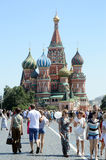 St  Basil s Cathedral  Moscow  Red Square  Heat Royalty Free Stock Photos
