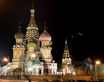 St. Basil's Cathedral,Moscow,Ru ssia. Night view of St. Basil's Cathedral,Moscow,Russia Royalty Free Stock Image