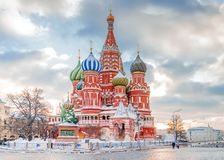 St. Basil`s Cathedral in Moscow, Russia.  stock image