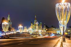 St. Basil`s Cathedral in Moscow, Russia Royalty Free Stock Image