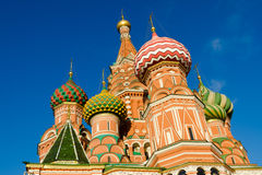 St Basil's Cathedral in Moscow Russia. On bright winter day Stock Photo