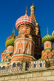 St Basil's Cathedral in Moscow Russia. On a bright winter day Stock Image