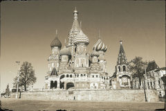 St. Basil's Cathedral in  Moscow, Russia Stock Images