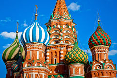 St. Basil's Cathedral in Moscow, Russia Royalty Free Stock Photos