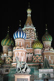 St. Basil's Cathedral, Moscow, Russia at Night Stock Image