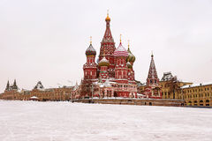 St. Basil's Cathedral, Moscow, Russia (winter view).  Royalty Free Stock Images