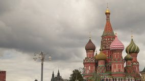 St. Basil`s Cathedral in Moscow. Russia stock video footage