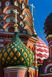 St. Basil's Cathedral in Moscow on a sunny day Stock Images