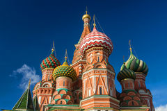 St. Basil's Cathedral in Moscow on a sunny day Stock Photos