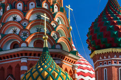 St. Basil's Cathedral in Moscow on a sunny day Royalty Free Stock Images