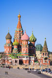 St. Basil's Cathedral in Moscow (view from Vasilevsky descent) Royalty Free Stock Image