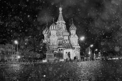 St. Basil's Cathedral in Moscow Stock Photography