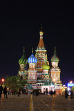 St.Basil's Cathedral in night. Moscow Stock Photo